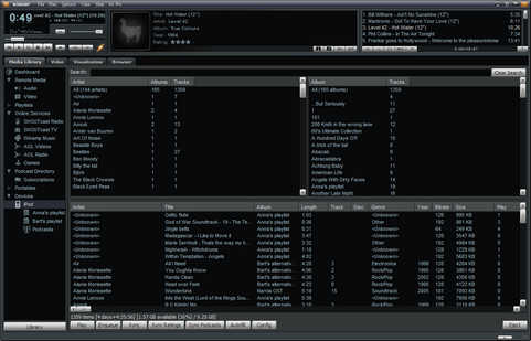 Winamp 5.54 build 2145 - Bento skin (481 pix)