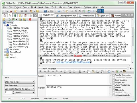 EditPad Pro screenshot (481 pix)
