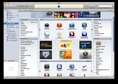Apple iTunes 7.7 - met App Store