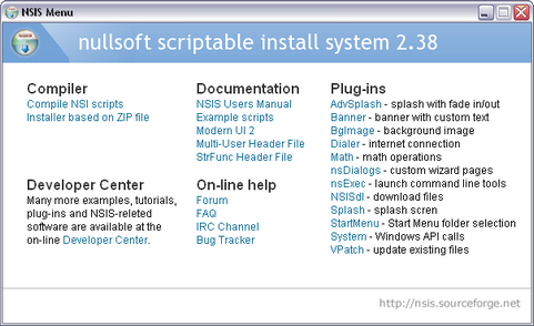 Nullsoft Scriptable Install System 2.38 screenshot (481 pix)