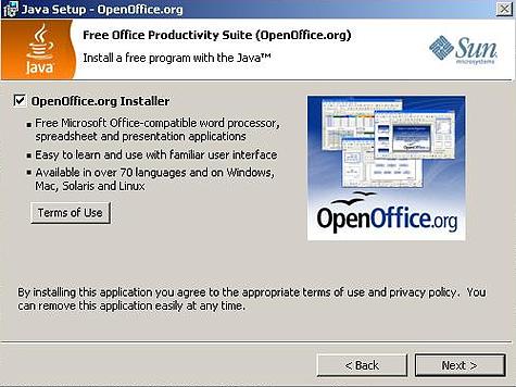 Java Setup Openoffice.org Install