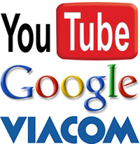 Youtube Google Viacom logo's