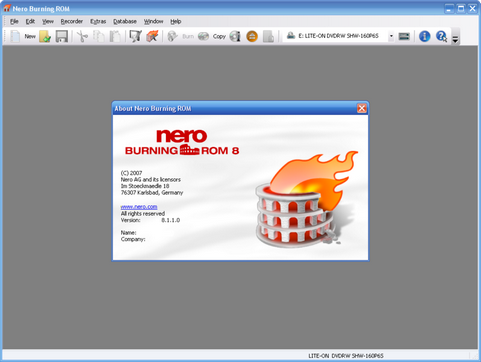 Nero Burning ROM 8 screenshot (481 pix)