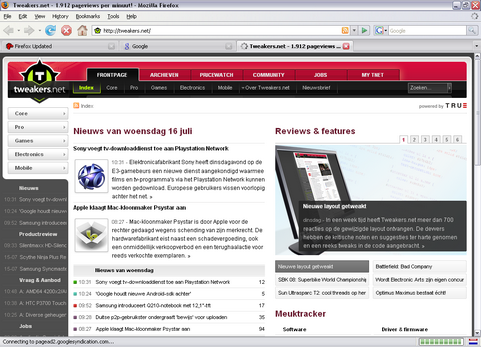 Mozilla Firefox 2.0.0.16 screenshot (481 pix)