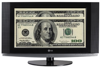 Dollars op lcd-scherm