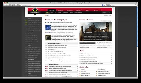 Tweakers.net-frontpage in Firefox 3.0.1