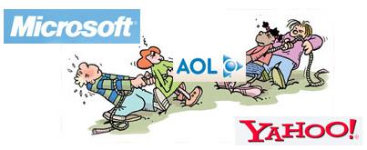AOL getouwtrek Microsoft Yahoo
