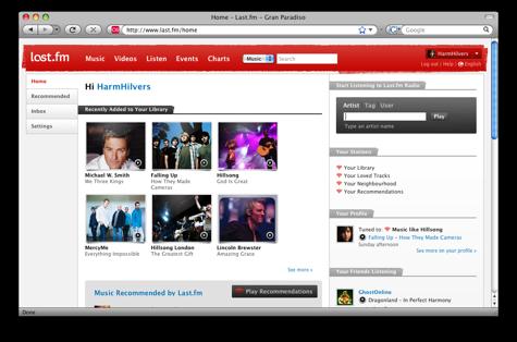 Vernieuwde Last.fm-website