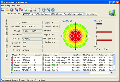 PassMark WirelessMon screenshot (481 pix)