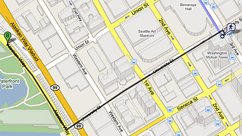 Google Maps voor voetgangers