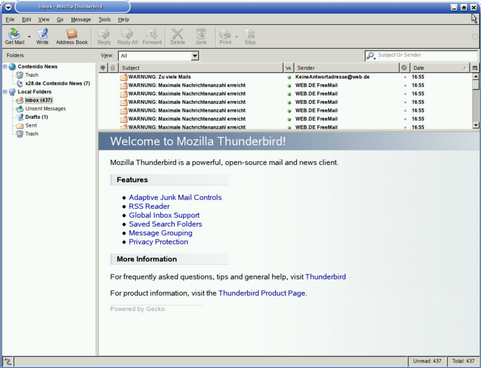 Mozilla Thunderbird screenshot (481 pix)