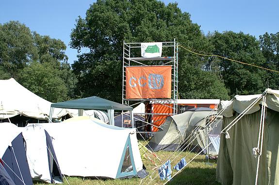 Campzone 2008 - T@C- en CCTV-vlaggen