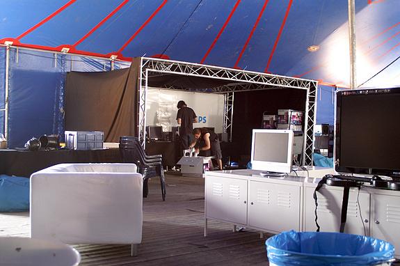 Campzone 2008 - Stand van Philips