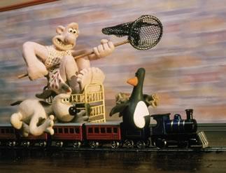 Wallace & Gromit achtervolgen kamerhuurder