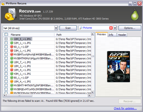 Recuva 1.17.339 screenshot (481 pix)