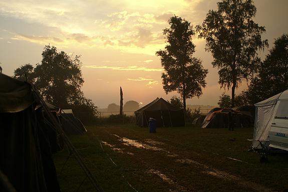 Campzone 2008 - Zonsondergang