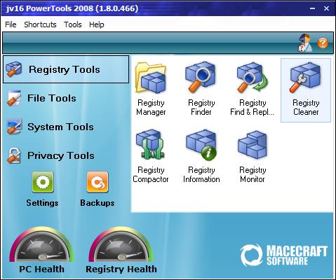 jv16 PowerTools 2008 1.8.0.466 screenshot