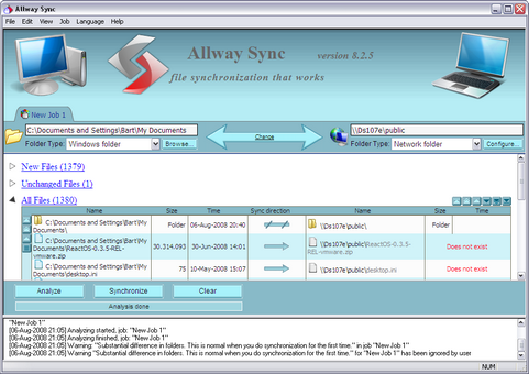 Allway Sync 8.2.5 screenshot (481 pix)