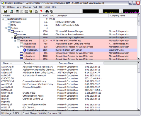 Process Explorer screenshot (481 pix)