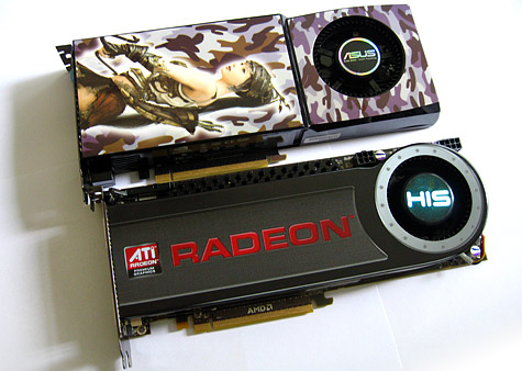 HIS Radeon HD 4870 X2 en Asus Geforce GTX 280