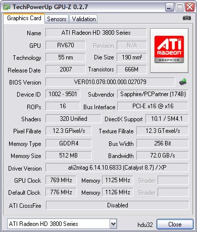 GPU-Z 0.2.7 screenshot
