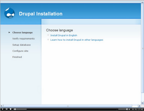 Drupal screenshot