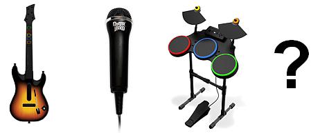 Guitar Hero World Tour instruments