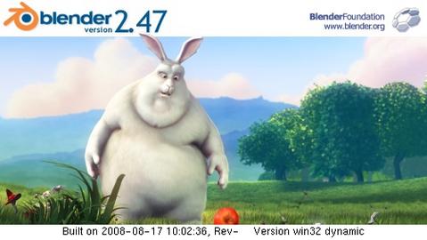 Blender 2.47 - about screen (481 pix)