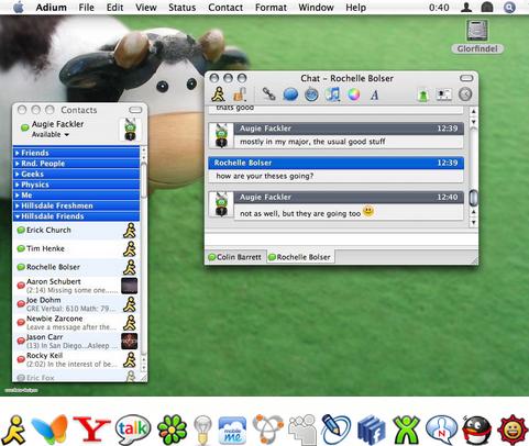 Adium X screenshot (481 pix)
