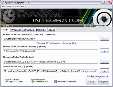 RyanVM's Post-SP3 Update Pack 1.0.0 in RVM Integrator 1.5.3 (481 pix)