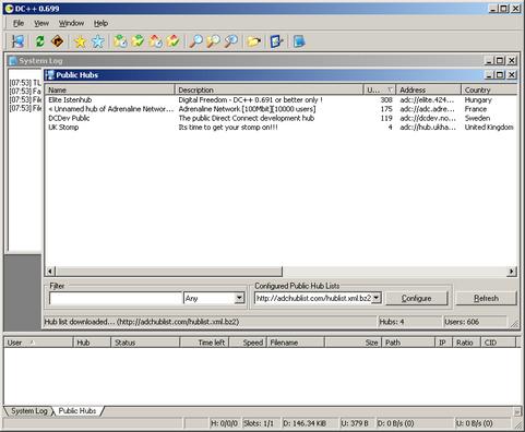 DC++ screenshot (481 pix)