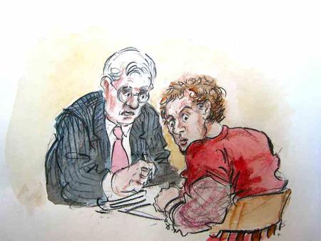 Hans Reiser en zijn advocaat