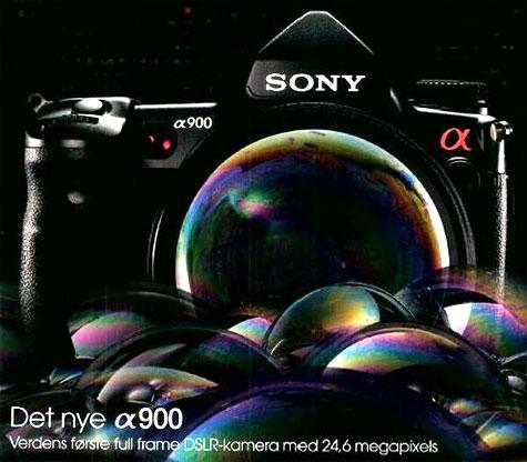 Sony Alpha 900 advertentie