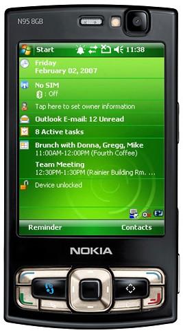 Nokia N95 8GB met Windows Mobile
