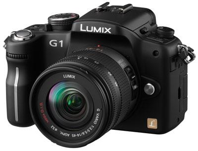 Panasonic Lumix DMC G1, driekwart
