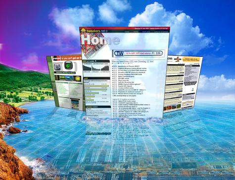 Collage van Tweakers.net, AGN3D en 3DNews.net in juni 1999 (klein)