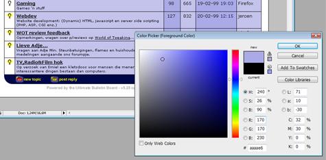 Blauwe GoT-layout colorpicker (klein)