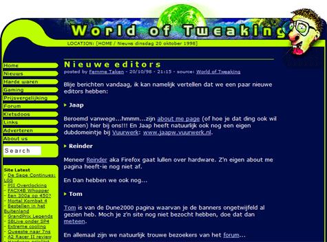 World of Tweaking aankondiging eerste editors (klein)