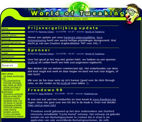 World of Tweaking eerste nieuwspost van crewlid (klein)