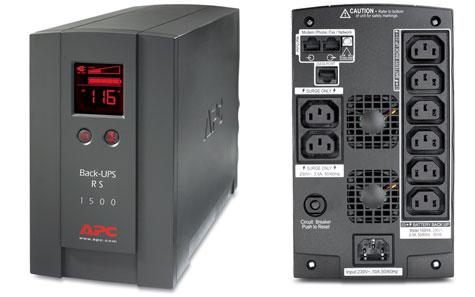 APC Back-ups RS 1500VA (links) en 1200VA (rechts)