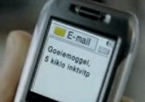 E-mail op telefoon: goeiemoggel, vijf kiklo inktvip