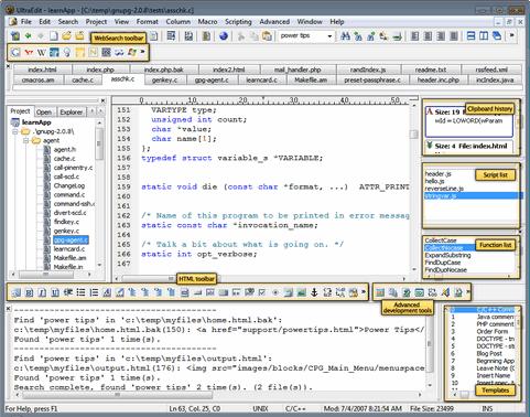 UltraEdit 14.00 'PowerUser' screenshot (481 pix)