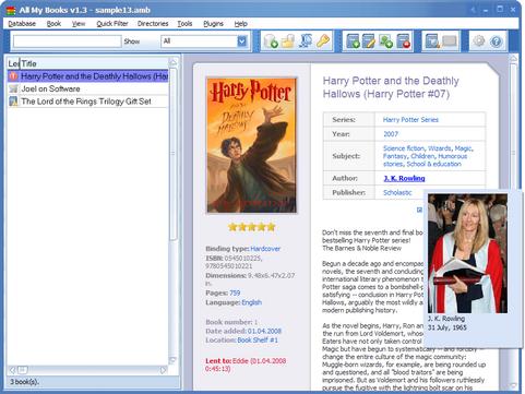 All My Books 1.3 screenshot (481 pix)