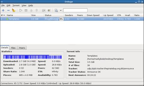 Deluge screenshot (481 pix)