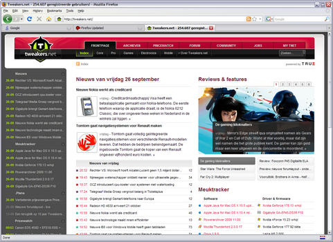 Mozilla Firefox 3.0 screenshot (481 pix)