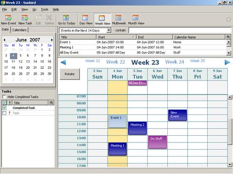 Mozilla Sunbird screenshot (481 pix)
