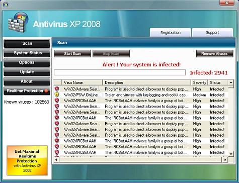 Antivirus xp 2008
