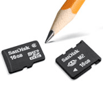 Sandisk 16GB microsdhc- en m2-kaarten