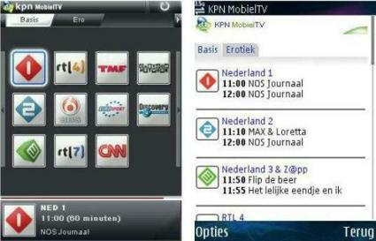 KPN tv via umts