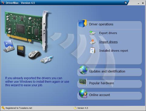 DriverMax 4.5 screenshot (481 pix)